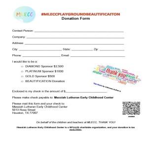 MLECCPLAYGROUNDBEAUTIFICATION 2021 Donation Form